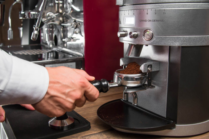 pressatura caffè
